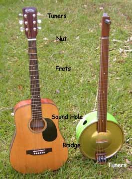 003 compared to a standard guitar